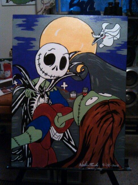 Canvas art by Nathan Burbank