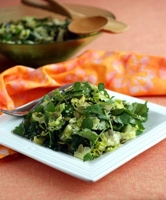 Glorious Green Salad (vegan, candida-diet friendly) @rickiheller #vegan #grainfree #Paleo