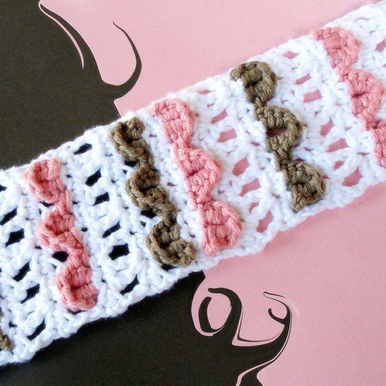 Free Crochet Pattern Headbands Ridged Ties & Lacy Buttoned   CROCHET ...