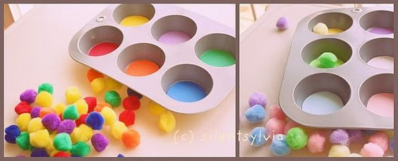 muffin tins and sorting