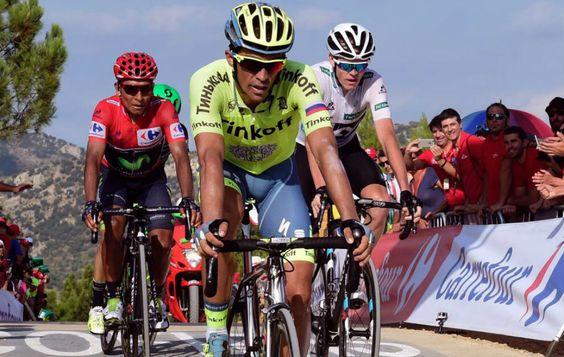 Vuelta a España 2016, etapa 17, Contador, Quintana, y Froome. ATP fotografía