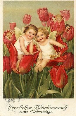 Marie Flatscher - Angels emerging From Tulip Patch