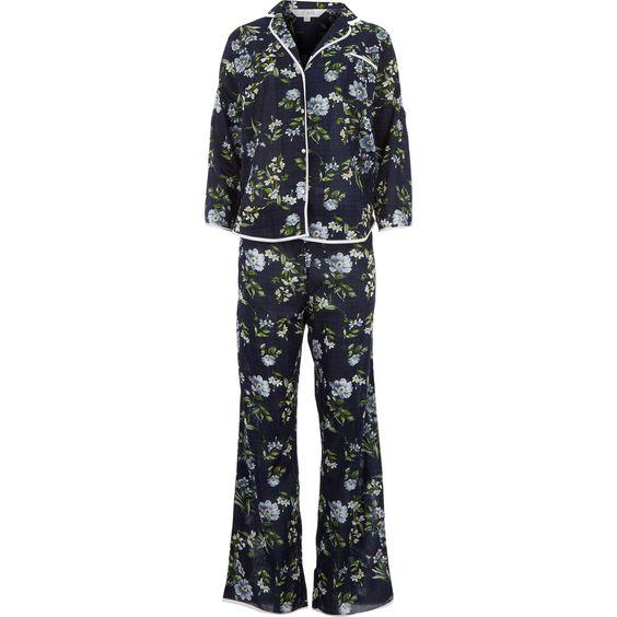 Navy Check Floral Pyjama Set - Christmas Gifts - Christmas - TK Maxx