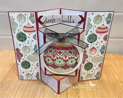 Beautiful Baubles Stampin Up Christmas Cards Fancy Folds Homemade Christmas Cards Diy Christmas Cards Folded Christmas Cards