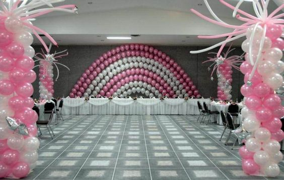 Balloon decorating ideas without helium wedding for Balloon decoration for wedding receptions