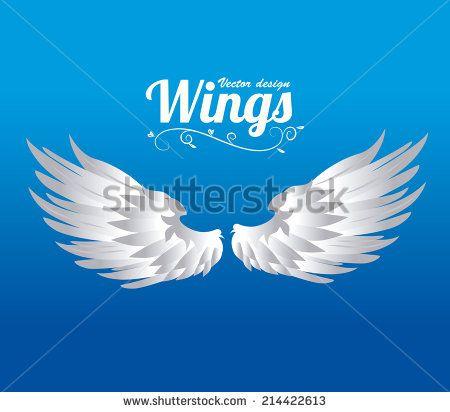 Angels Abstract Blue Illustration Wings Stockfotos und -bilder | Shutterstock