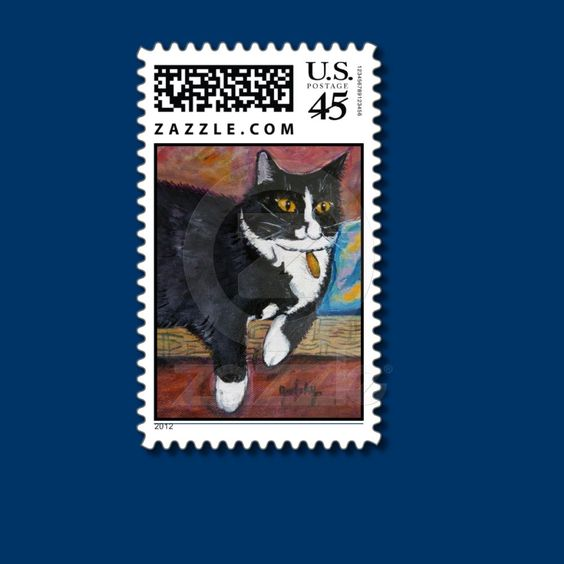 Spunky the cat Postage Stamps from Zazzle.com