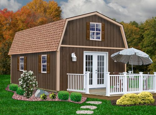 Best Barns Richmond 16 x 24 Shed Kit without Floor at Menards
