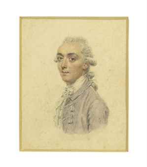James Hare (1749-1804), social celebrity and politician Pencil and watercolour on card, the reverse inscribed by the artist 'Mr Hare / [W]impole [Street]' by John Smart: