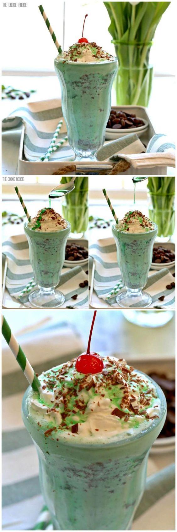 Shamrock shake, Chocolate shake and Shake on Pinterest