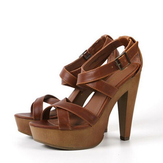 Compra zapatos de plataforma de madera online al por mayor - Tocones de madera ...