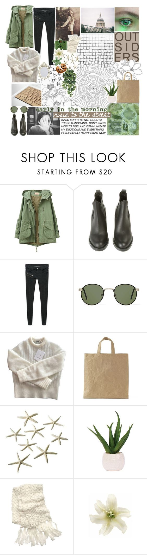 """☾ love the one you got."" by thundxrstorms ❤ liked on Polyvore featuring Acne Studios, PEPER, A.J. Morgan, Lux-Art Silks, Hollister Co., Guide London, Clips, Nestlé, TalisLittleTag and MeenaGotTagged"