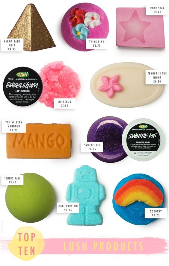 Top 10: LUSH Products | Temporary:Secretary UK Fashion Blog | Style Blogger: Top 10: LUSH Products