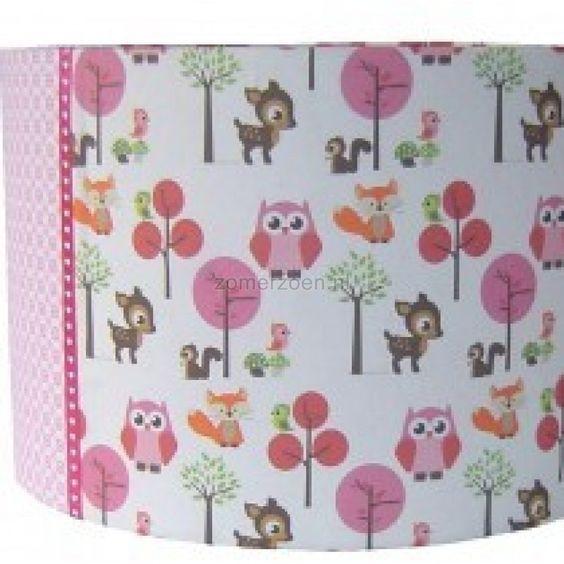 Lamp voor Kinderkamer Dieren  Veel accessoires Forest Friends ...