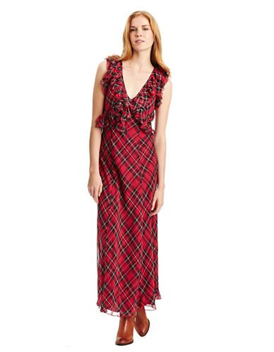 Venita Ruffled Tartan Maxi Dress Review Buy Now