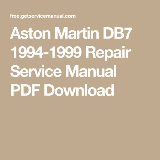 Es 330 maintenance schedule user manuals array aston martin db7 1994 1999 repair service manual pdf download rh pinterest fandeluxe