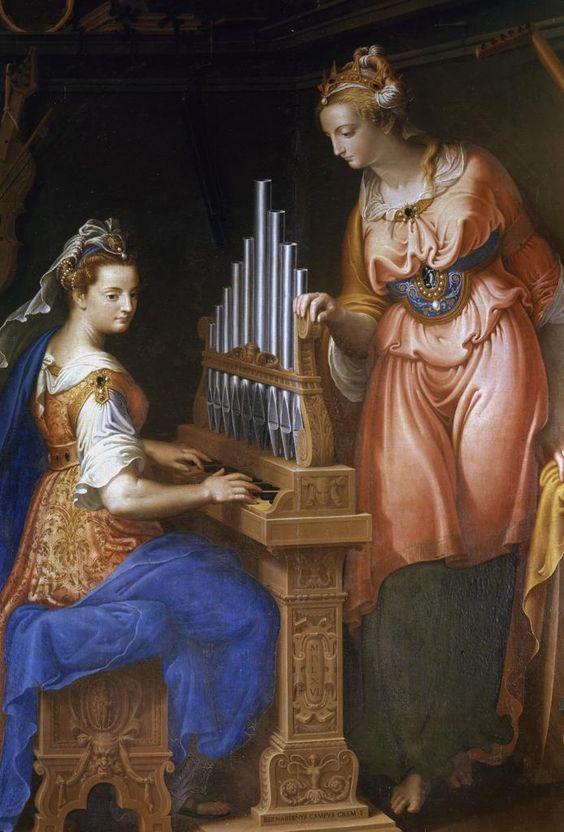 Jacques Stella (1596 — 1657) Sainte Сecile playing the organ. Antwerp School (c1600) Saint Cecilia: