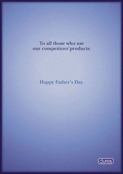 durex condom ad happy father's day