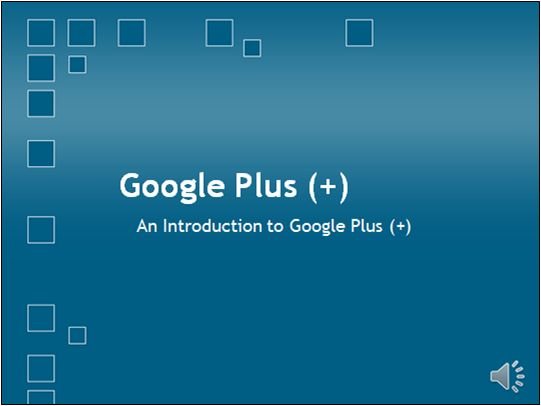 An introduction to Google Plus