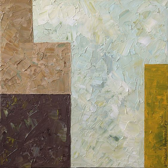 Купить Абстрактная живопись. Ч4. - голубой, желтый, коричневый, кофе с молоком…