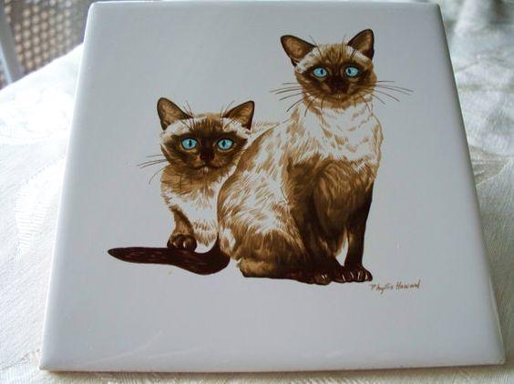 Vintage Ceramic Trivet Artist Phyllis by enchantedmistdesigns, $14.95