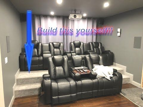 DIY HOME THEATER RISER | Build your own Movie Room Seating Platform Cheap  and Easy! - .. | Home theater room design, Home cinema room, Home theater  seating  Pinterest