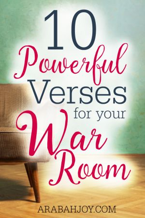 10 Powerful Verses For Your War Room Wall Scriptures