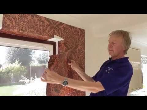 How To Hang Wallpaper Around Windows And Doors The Professional Way Youtube How To Hang Wallpaper Windows Windows And Doors
