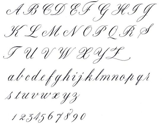 calligraphy lettering | cursive calligraphy alphabet | Tattoos ...