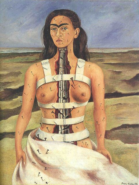 Frida Kahlo - Self-portrait, The broken column, 1944: