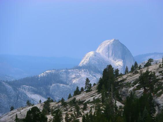 Half Dome (right)  Yosemite Valley