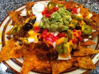 Peace, Love, and Low Carb: Holley's Low Carb Nachos.  Made with all cheese 'chips'