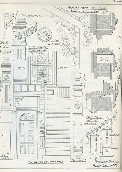 Victorian domestic architectural plans and details - Architektura wiktoriańska z jej ekscentrycznym