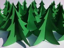 """Hohe Tannen..."" 20 Tannenbäume aus Papier"