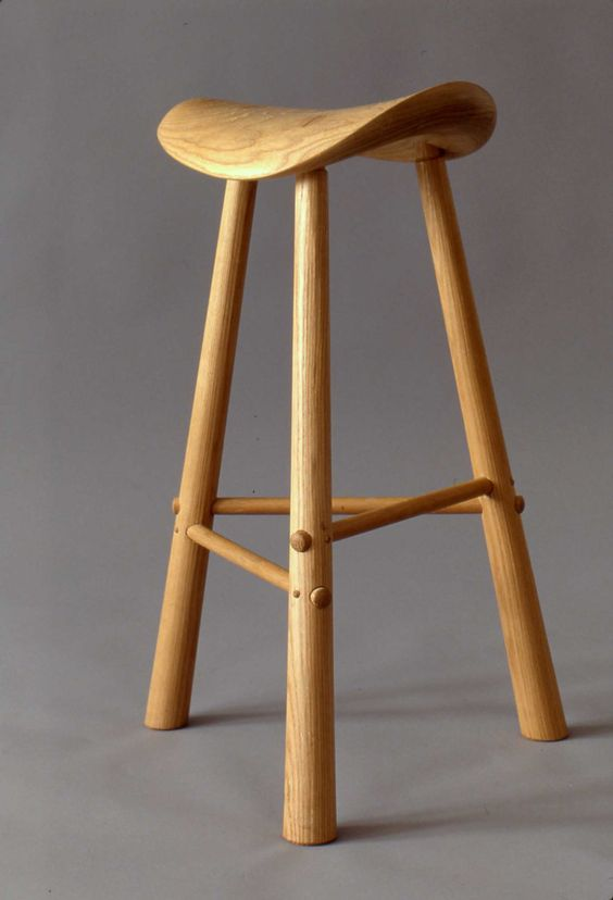 Three Legged Stool ~ Three legged stool white ash furniture by design