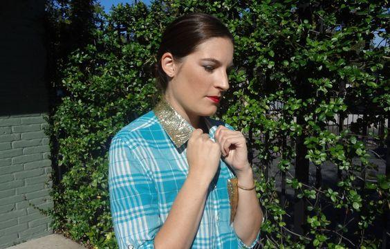 DIY Glitter Collar Shirt Tutorial   Champagne & Schnapps