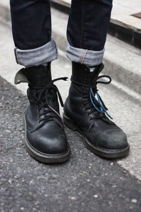 Doc Martens Boyfriend Style And Cuffed Jeans On Pinterest