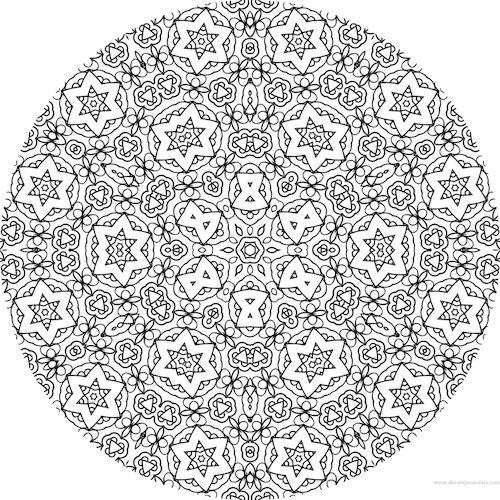 Coloriage anti stress colorier en ligne mandala - Mandala a colorier en ligne ...