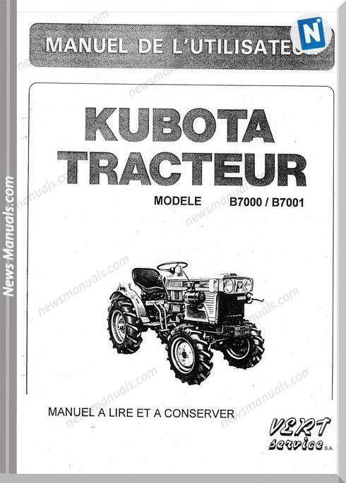 Kubota Tractor B7000 User Manual Kubota Tractors Tractors User Manual