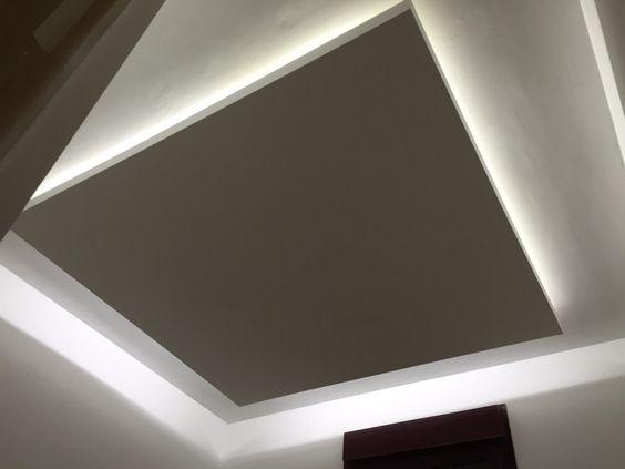 Falso techo de pladur con luz indirecta de led - Luz indirecta ...
