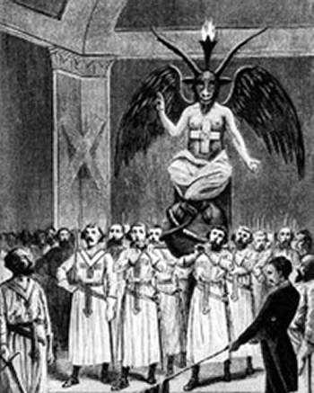 baphomet | Templários venerando Baphomet