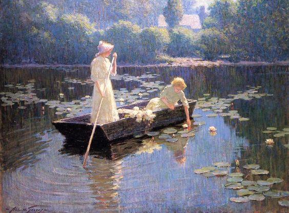 Pond lilies by Abbott Fuller Graves: