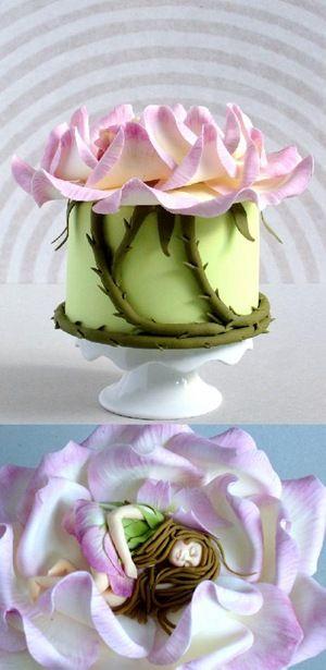 Thumbelina Cake - from the children's movie Thumbelina - Gorgeous