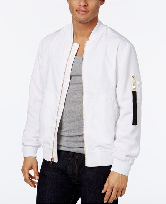 Sean John Men's Pique-Sleeve Bomber Jacket - Sean John - Men - Macy's