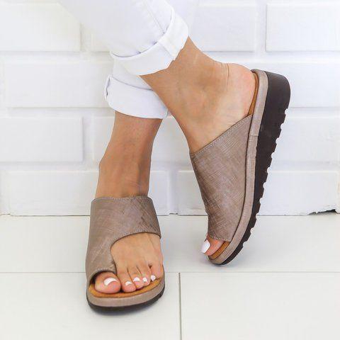 Summer Travel Shoes Fashion Beach Sandals EDTO Women Comfy Platform Sandals Shoes