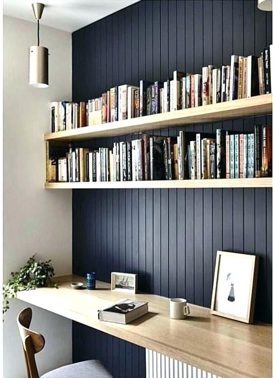 Shelves For Desks Simple Floating Shelves Over The Desks Ikea Desk