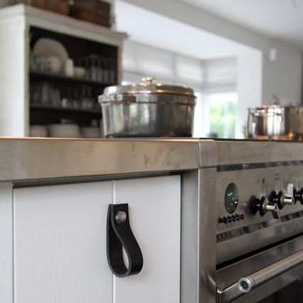 i want leather handles for my cabinets.