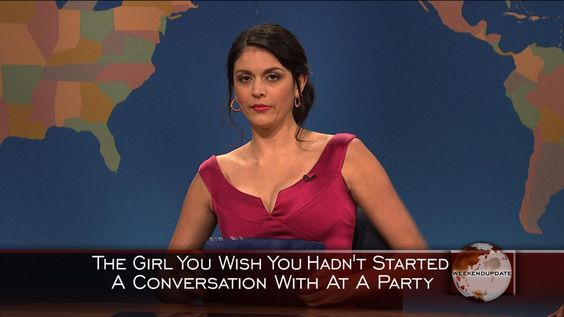 Weekend Update: Girl You Wish You Hadn't Started a Conversation With at a Party - Christmas