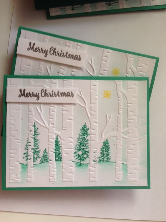 Set of 6 Handmade Christmas Cards by ThisIsWhatReneDoes on Etsy