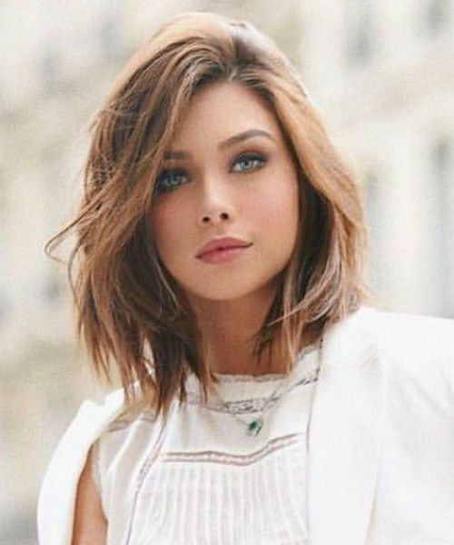 Trendiest Shoulder Length Shaggy Bob Hairstyles For Girls And Women With Round F In 2020 Shaggy Bob Hairstyles Bob Hairstyles For Round Face Above Shoulder Length Hair